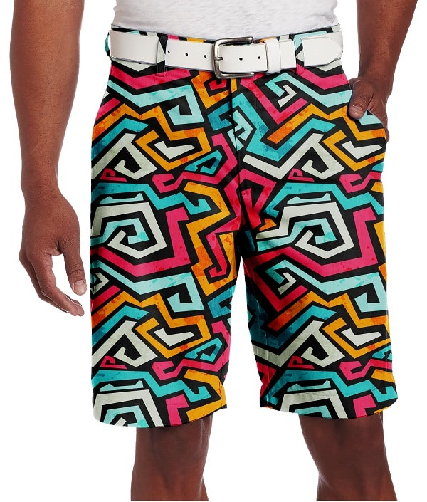 Graffiti Design Golf Shorts